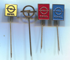OPEL Germany - Car Auto Automotive, Vintage Pin Badge, Abzeichen, 4 Pcs - Opel