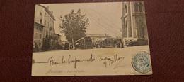 Ancienne Carte Postale - Fleurie - Place De L'eglise - Other Municipalities