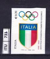 ITALIA REPUBBLICA     2014, Fondazione CONI, Usato - 2011-...: Used