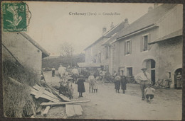 Carte Postale Animée  Franche Comté Jura Crotenay La Grande Rue Scène De Vie - Sonstige Gemeinden