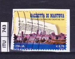 ITALIA REPUBBLICA     2014, Gazzetta Di Mantova, Usato - 2011-...: Used