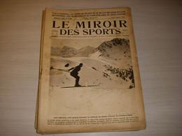 MIROIR Des SPORTS 136 08.02.1923 SKI FOOT BELGIQUE ESPAGNE 1-0 VOL VOILE AMANS - Sport