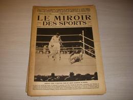 MIROIR Des SPORTS 169 27.09.1923 BOXE DEMPSEY FIRPO ATHLETISME FRANCE FINLANDE - Sport