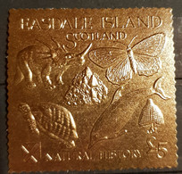 EASDALE ISLAND SCOTLAND NATURAL HISTORY STAMP GOLD . - Otros