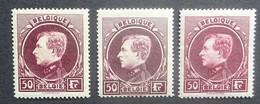 BELGIE  1929  Grote Montenez    Nr. 291 A - 291 B En 291 C    Tand. 14     Licht Spoor Scharnier *      CW 90,00 - 1929-1941 Gran Montenez