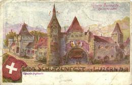 EIDG SCHUTZENFEST IN LUZERN 1901 RV Beau Timbre 1O Beau Cachet - LU Luzern