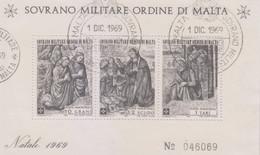 Sovrano Militare Ordine Di Malta - S.M.O.M. 1969 UnN°47 BF2 FDC (o) (vedere Scansione) - Malte (Ordre De)