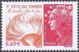 France N° 4688 ** Marianne De Beaujard - Journée Du Timbre - Le Feu - Unused Stamps