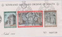 Sovrano Militare Ordine Di Malta - S.M.O.M. 1970 UnN°62 BF3 FDC (o) (vedere Scansione) - Malte (Ordre De)