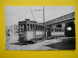 Photo ,TRAMWAY Et Gares De LOIRE, Collection Bourneuf ,lire Descriptif ,Saint-Etienne , Depôt Des Tramways Bleus ARTUR - Trains