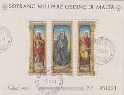 Sovrano Militare Ordine Di Malta - S.M.O.M. 1971 UnN°74 BF4 FDC (o) (vedere Scansione) - Malte (Ordre De)