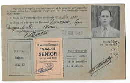 Beaune - Licence De Football - Association Sportive Beaunoise - 1942/43 - Caillet Andre - Altri