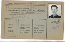 Beaune - Licence De Football - Fils De France - 1942/43 - Rougeot Guy - Altri