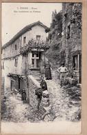 X81080 ⭐ PENNE Tarn (81) Rue Conduisant Au Chateau 1910s Animation Villageoise GIMET MOUTANBAU 7 - Otros Municipios