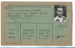 Beaune - Licence De Football - Fils De France - 1942/43 - Cottier Michel - Altri