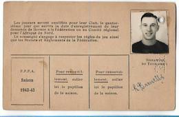 Beaune - Licence De Football - Fils De France - 1942/43 - Brenelli Robert - Altri