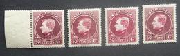 BELGIE  1929  Grote Montenez    Nr. 291 B - 291 C En 291 D      Tand. 14    Postfris **       CW 530,00 - 1929-1941 Gran Montenez