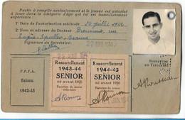 Beaune - Licence De Football - Association Sportive Beaunoise - 1942/43 - Rousseau Albert - Altri