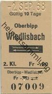 Schweiz - Oberbipp Wiedlisbach Und Zurück - Fahrkarte 1968 - Europe