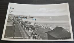 Nordseebad Wilhelmshaven 1936, Strandpartie Mit Fahnen, Tanklager NITAG, Benzi, Petroleum, Leute - Wilhelmshaven