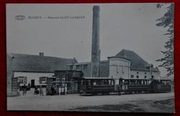 CPA Blicquy,  Leuze-en-Hainaut - Brasserie Saint Lambert - Tram - Leuze-en-Hainaut