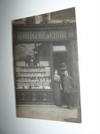88 VOSGES CARTE PHOTO GERARDMER HORLOGERIE DU CENTRE R. BIGOT RUE DU MOUTIER A VERIFIER - Gerardmer