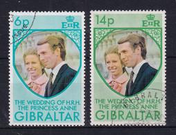 Gibraltar: 1973   Royal Wedding   Used - Gibraltar