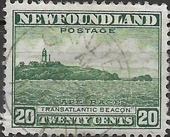 NEWFOUNDLAND 1932 Cape Race - 20c - Green FU - 1908-1947