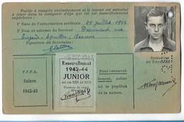 Beaune - Licence De Football - Association Sportive Beaunoise - 1942/43 - Changarnier Paul - Altri
