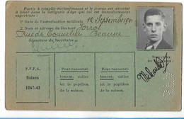 Beaune - Licence De Football - Fils De France - 1942/43 - Michaudet Maurice - Altri