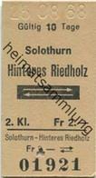 Schweiz - Solothurn Hinteres Riedholz Und Zurück - Fahrkarte 1968 - Europe