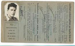 Beaune - Licence De Football - Association Sportive Beaunoise - 1948/49 Mony Paul - Altri