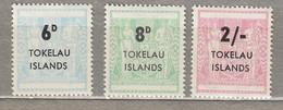 TOKELAU 1966 Due Stamps MH Mi 1-3 #27921 - Tokelau