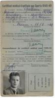Beaune - Licence De Football - Association Sportive Beaunoise - 1948/49 Bourgeois Alain - Altri