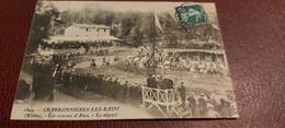 Ancienne Carte Postale - Charbonniéres Les Bains - Les Courses D'anes - Le Départ - Other Municipalities