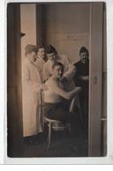 VICHY : Carte Photo D'un Blessé à L'Hôpital Militaire En 1915 - Bon état (une Petite Déchirure) - Vichy