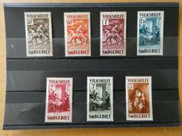 SARRE Neufs Sans Charnière Poste N° 148 à 154 Cote 700 € - Collections, Lots & Series
