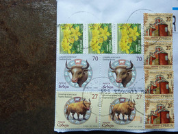 2021  Stamps Used On A Letter - Serbia