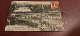 Ancienne Carte Postale - Charbonniéres Les Bains - Les Courses D'anes - Le Départ - Buraliste éditeur - Sonstige Gemeinden