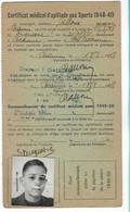 Beaune - Licence De Football - Association Sportive Beaunoise - 1948/49 Duquesne Serge - Altri