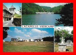CPSM/gf (15)  LACAPELLE-VIESCAMP.  Multivues, L'église, Le Pont, Le Camping, La Fontaine...M844 - Otros Municipios