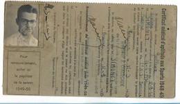 Beaune - Licence De Football - Association Sportive Beaunoise - 1948/49 Simonnet Andre - Altri