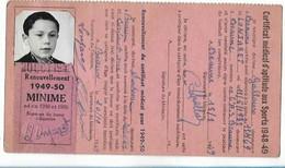 Beaune - Licence De Football - Association Sportive Beaunoise - 1948/49 Lojaret Andre - Altri