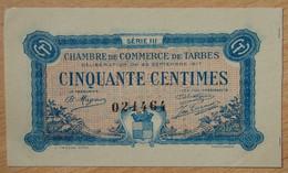 TARBES ( 65 - Hautes Pyrénées ) 50 Centimes Chambre De Commerce 23 Septembre 1917 Série III - Chambre De Commerce
