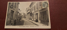 Ancienne Carte Postale - Pierre Benite - Grande Rue - Coté Nord - Pierre Benite