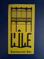CARTE DE VISITE L'ILE RESATURANT BAR - Visiting Cards