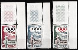 MAROC 1964 Y&T N° 476 à 478 COIN DE FEUILLE SUP DROIT N** - Morocco (1956-...)