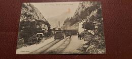 Ancienne Carte Postale - Dingy - La Gare Et Le Défilé - Dingy-Saint-Clair
