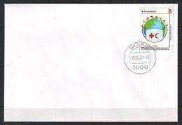 Nord Macedonia 2021 Charity Stamp RED CROSS Covid 19 Medical Mask FDC - Macedonia