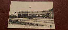 Ancienne Carte Postale - Roanne - Depot Principal Des Machines Du P-l.m - Roanne
